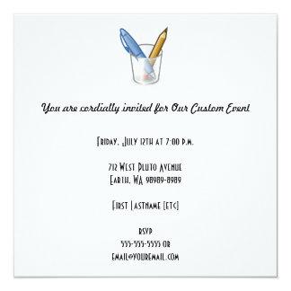 Writer Pen Pencil Cup Invitation