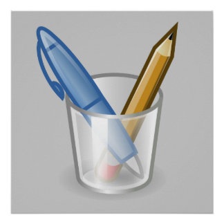 Writer Pen Pencil Cup Poster
