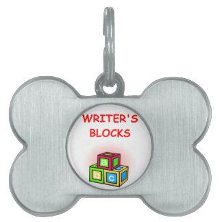 writer pet ID tag