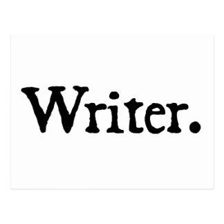 Writer. Postcard