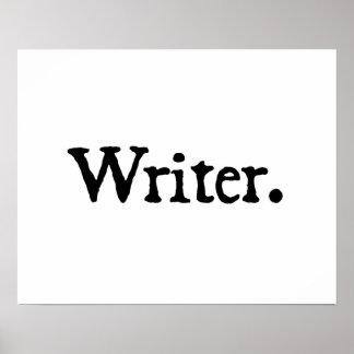 Writer. Poster