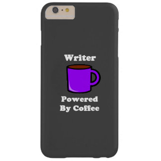"""""""Writer"""" Powered by Coffee Barely There iPhone 6 Plus Case"""