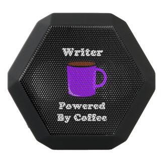 """Writer"" Powered by Coffee Black Bluetooth Speaker"