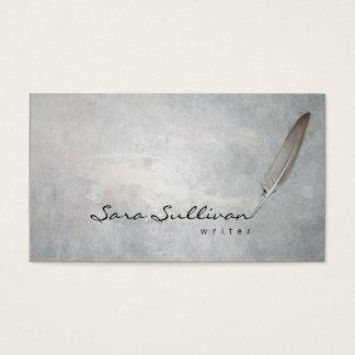 Writer Quill Pen Grunge Texture BusinessCard Business Card
