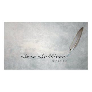 Writer Quill Pen Grunge Texture BusinessCard Double-Sided Standard Business Cards (Pack Of 100)