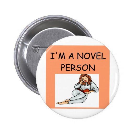 writer reader joke pinback buttons