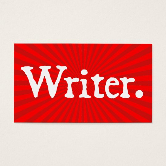 Writer Red Business Card