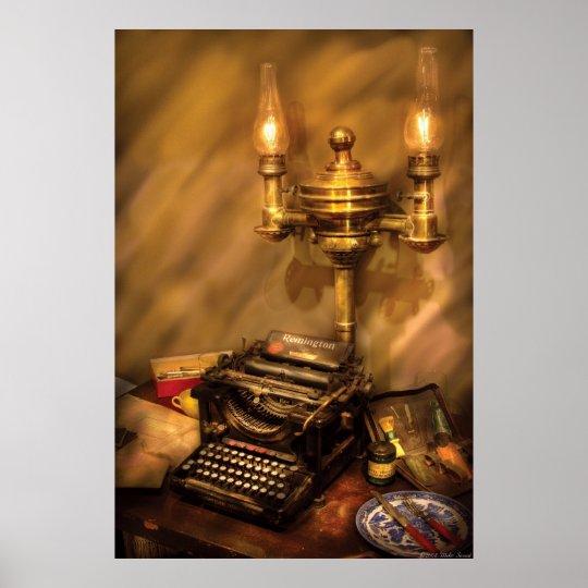Writer - Remington Typewriter Poster