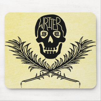 Writer Skull and Crossbones Quills Mouse Pad