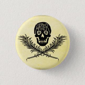Writer Skull and Crossbones Quills Pinback Button