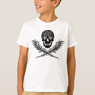 Writer Skull and Crossbones Quills T-Shirt