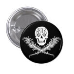 Writer Skull and Crossbones Quills White Pins