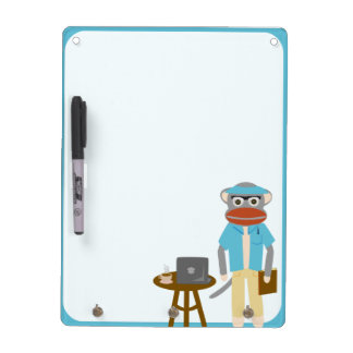 Writer Sock Monkey Dry-Erase Whiteboard
