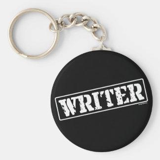 Writer Stamp Basic Round Button Keychain