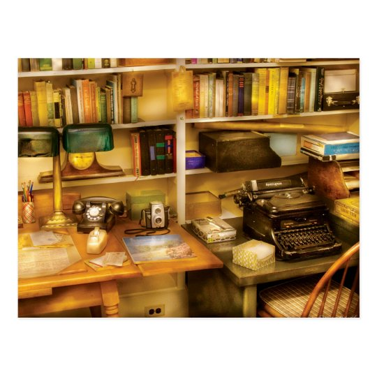 Writer - The desk of a writer Postcard