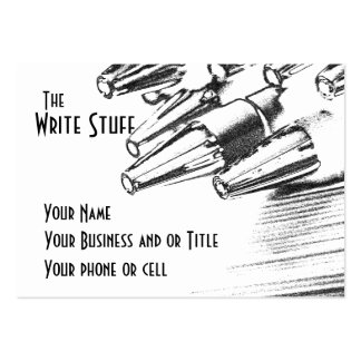 Writer ... The write stuff Business Cards