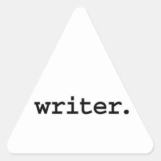 writer. triangle sticker