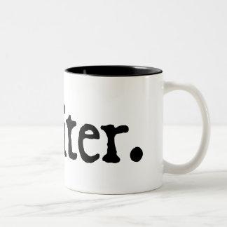 Writer Two-Tone Mug (black lettering)