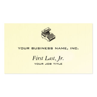Writer -Type Writing Machine - Typewriter Double-Sided Standard Business Cards (Pack Of 100)