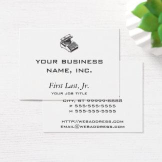 Writer -Type Writing Machine - Typewriter Business Card