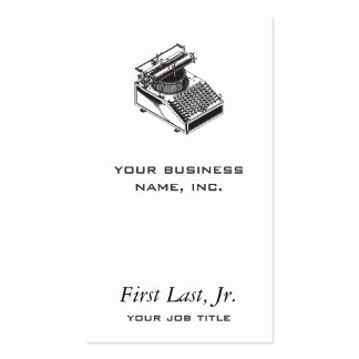 Writer -Type Writing Machine - Typewriter Business Card
