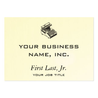 Writer -Type Writing Machine - Typewriter Large Business Card