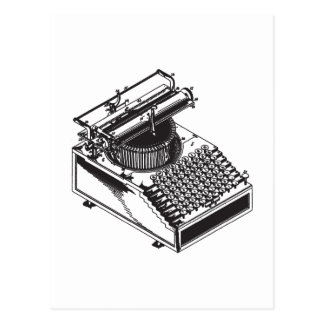 Writer -Type Writing Machine - Typewriter Postcard
