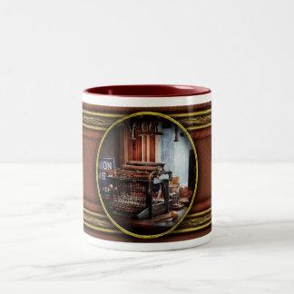 Writer - Typewriter - The aspiring writer Two-Tone Coffee Mug