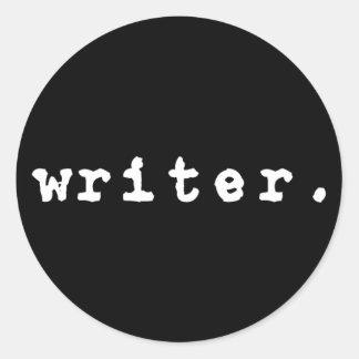writer. (typewriter, white on black) - Stickers