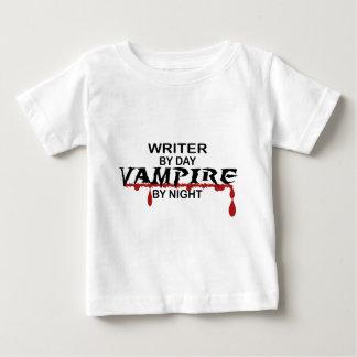 Writer Vampire by Night Baby T-Shirt