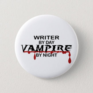 Writer Vampire by Night Button