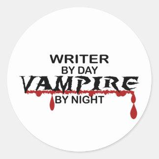 Writer Vampire by Night Classic Round Sticker