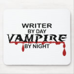 Writer Vampire by Night Mouse Pad