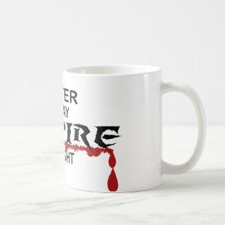 Writer Vampire by Night Coffee Mugs