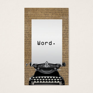 Writer Vintage Old Scripts & Typewriter Business Card