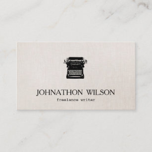 writer vintage typewriter business card - Freelance Business Cards