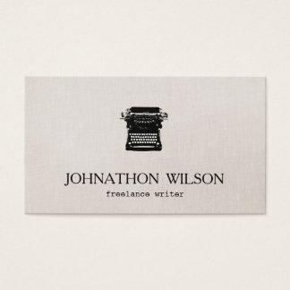 Writer Vintage Typewriter Business Card