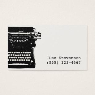Typewriter business cards templates zazzle writer vintage typewriter business card reheart Choice Image