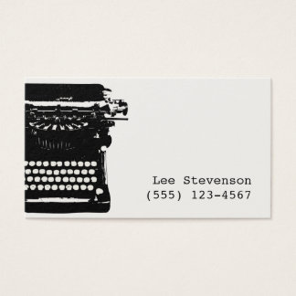 Writer Vintage Typewriter Business Card
