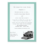 Writer Vintage Typewriter Lesbian Wedding 5x7 Paper Invitation Card