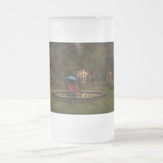 Writer - Wating for him Frosted Glass Beer Mug