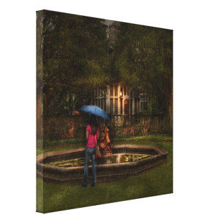 Writer - Wating for him Stretched Canvas Prints