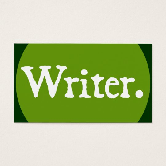 Writer White Lettering Business Card