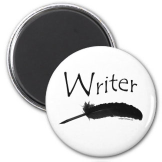 Writer with quill pen 2 inch round magnet