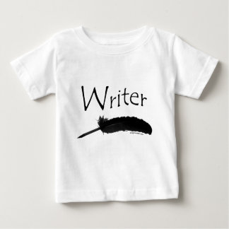 Writer with quill pen tee shirts