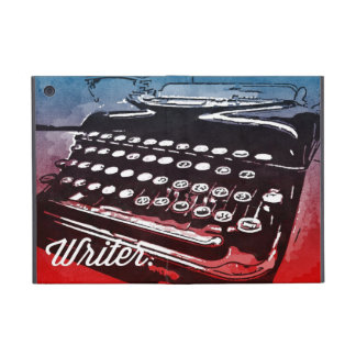 Writer with Typewriter Blue Red Pop Art Case For iPad Mini
