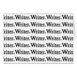 Writer. Writer. Writer. Greeting Card
