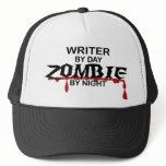 Writer Zombie Trucker Hat