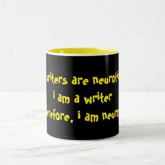 Writers2 are Neurotic Two-Tone Coffee Mug