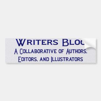 Writers Bloc Bumper Sticker Car Bumper Sticker